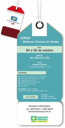 Curso aciaja modernas t cnicas de vendas de 04 a 06 10 for Tecnicas culinarias modernas
